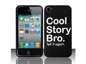BJ For iPhone 4 (AT&T/Verizon) Rubberized Design Case Cover - Cool Story Bro