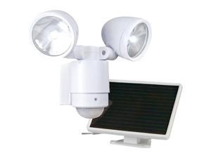 Maxsa Innovations 44418 Bright Dual-Head Solar Security Light ,White