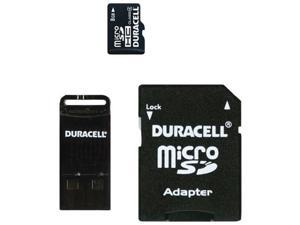 DURACELL DU-3IN1-08G-C Class 4 microSD Card with Universal Adapter ,8GB