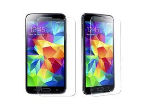 eForCity 2-Pack Tempered Glass Screen Protector Shield for Samsung Galaxy S5 SV