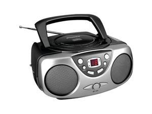 Sylvania SRCD243M BLACK Portable CD Radio Boom Box (Black )