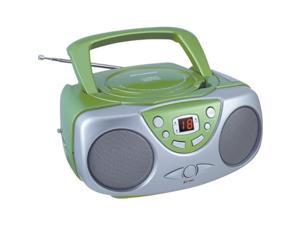 Sylvania SRCD243M GREEN Portable CD Radio Boom Box (Green )