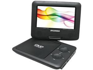 "Sylvania SDVD7027 BLACK 7"" Swivel-Screen Portable DVD Player ,Black"