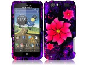 HRW For Motorola Atrix 3 MB886 Atrix HD Rubberized Design Cover Case - Divine Flower