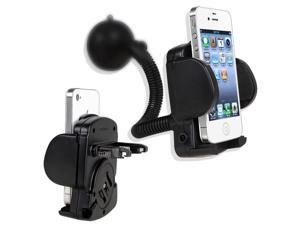 eForCity Windshield Mount Cell Phone Holder For Apple iPhone 6 Nexus 5X 5P, Black