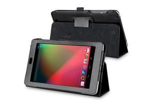 Leather Case with Multi-Angle Stand compatible with Google Nexus 7 (2012 version), Black