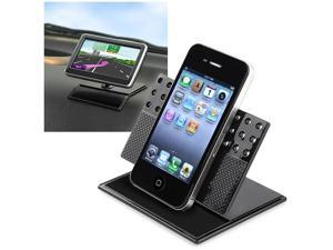 eForCity Universal Car Dashboard 360-degree Swivel Phone Holder Compatible with Blackberry Z10, Black