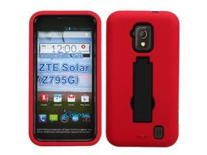 ASMYNA Black / Red Symbiosis Stand Protector Cover compatible with ZTE Z795G (Solar)