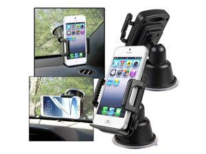 eForCity Suction Mount In Car Phone Holder Compatible with Nexus 5X 5P Samsung? Galaxy S IV / S4/ I9500/ I9505, Black