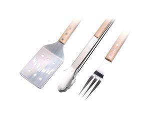 JIM BEAM JB0157 3pc BBQ Set with Spatula, Fork & Tongs
