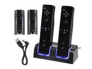 Charger Dock + 2 X Battery For Nintendo Wii Remote