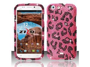 For BLU Life One L120 - Full Diamond Design Cover - Pink Leopard FPD