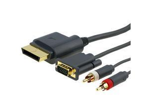 eForCity Premium VGA Cable Cord w/ Digital Optical Audio Port For Microsoft Xbox 360 / Xbox 360 Slim