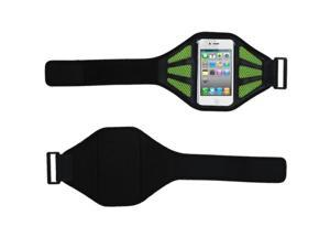 MYBAT Vertical Pouch Universal Hot Pink Sport Armband (with Baby Green Mess Ports)(403)