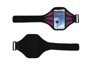 MYBAT Vertical Pouch Universal Black Sport Armband (with Hot Pink Mess Ports)(411)