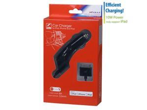 MYBAT Glossy Black Car Charger compatible with iPod / iPhone and iPad