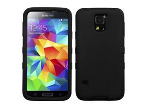 Black Hybrid Protector TUFF Cover Case for Samsung Galaxy S5