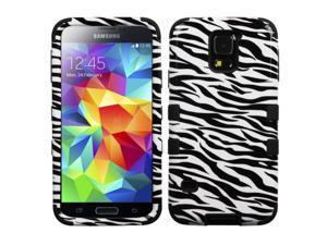 Zebra Skin Design Hybrid Protector TUFF Case for Samsung Galaxy S5