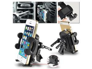 eForCity Car Air Vent Phone Holder Compatible with Nexus 5X 5P Samsung Galaxy S IV / S4/ I9500/ I9505, Black