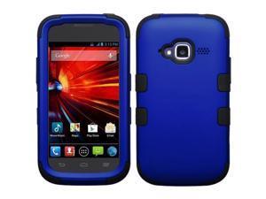 MYBAT Titanium Dark Blue / Black TUFF Hybrid Phone Protector Cover For ZTE Z730 (Concord II)