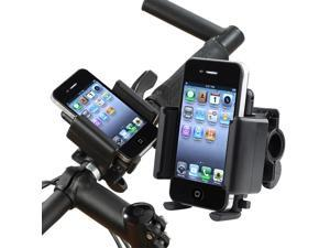 eForCity Motocycle Bicycle Bike Phone Holder Stand Mount For Samsung Galaxy Note 4 Nexus 5X 5P, Black