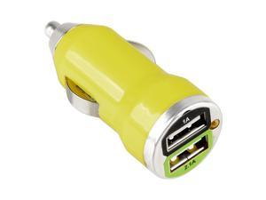 eForCity 2-Port USB Mini Car Charger Adapter Compatible With Samsung Galaxy Tab 4 7.0 / 8.0 / 10.1 / Nexus 5X / 6P, Yellow