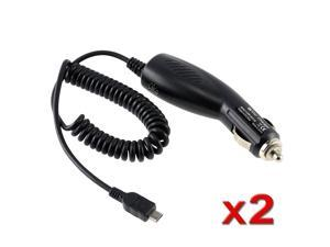 eForCity 2X Micro USB Car Charger Compatible with HTC EVO 4G LTE One X XL Thunderbolt