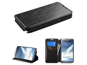 For Galaxy Note II T889/I605/N7100 Black MyJacket Wallet (with Tray)