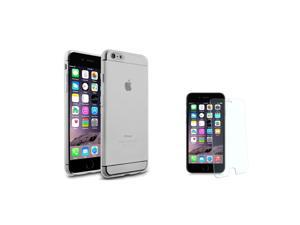iPhone 6 Plus / 6S Plus Case - eForCity Clear TPU Case with FREE Tempered Glass Screen Protector Cover Guard Shield for Apple iPhone 6 Plus / 6S Plus 5.5''