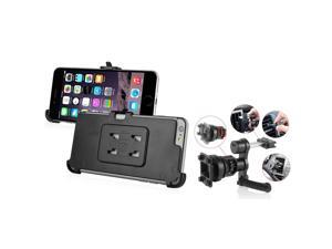 iPhone 6 Plus Holder - eForCity Swivel Car Air Vent Phone Holder Mount and Plate for Apple iPhone 6 Plus (5.5), Black