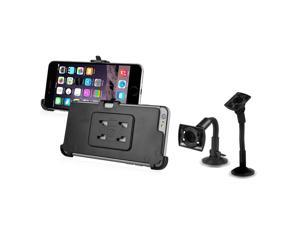 iPhone 6 Plus Holder - eForCity Windshield Phone Holder Mount and Plate for Apple iPhone 6 Plus (5.5), Black