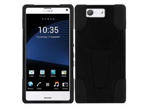 Sony Xperia Z3 Case - eForCity T-Stand Cover Case for Sony Xperia Z3, Black / Black
