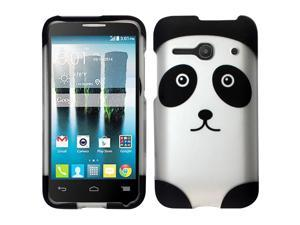 Alcatel One Touch Evolve 2 Case - eForCity Rubberized Design Hard Snap-On Cover for Alcatel One Touch Evolve 2, Panda Bear DP