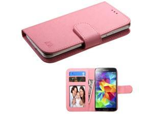 eForCity Pink Leather Wallet Flip Case Cover For ZTE Fanfare iPhone 5 5C 5S  iPod Touch 6th 5th  Moto E G X 2013  Samsung Galaxy Core Prime Avant Alpha  Nokia Lumia 635 630 w/ Photo Frame & Card Slot