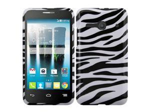 Alcatel One Touch Evolve 2 Case - eForCity Rubberized Hard Snap-in Case Cover For Alcatel One Touch Evolve 2, Black/White
