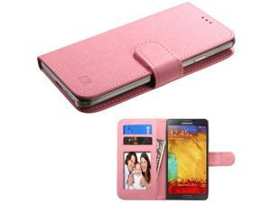 eForCity Flip Wallet Leather Case Cover For Apple iPhone 6 6S / HTC Desire 610 510 M8 M7 / Samsung Galaxy S5 Active Sport S4 S3 / LG G3 / Nokia Lumia 830 920 Pink Universal (with Photo & Card Slot)