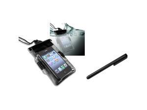 eForCity Black Waterproof Bag Case + Stylus For Motorola Droid X X2 Droid 2 Global Apple iPhone 5S 5C 5 4 4S Galaxy S4 Mini i9190