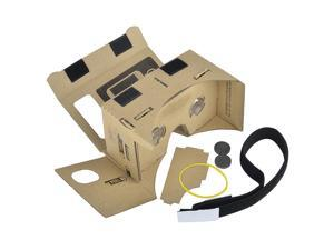 eForCity Cardboard 3D Virtual Reality VR Glasses with Headband for up to 5.1-inch screen Smartphones/ Apple iOS 8.0/ Android 4.2.2 OS/ Google
