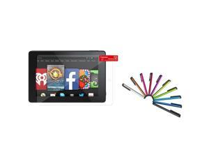 "eForCity Clear Screen Protector LCD Film Guard with 10-Piece Stylus For Amazon Kindle Fire HD 7"" 7 inch 2014"