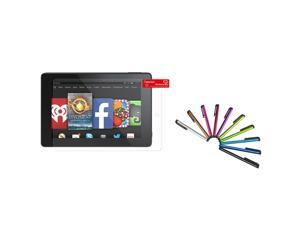 "eForCity Anti-Glare Screen Protector LCD Film Guard with 10-Piece Stylus For Amazon Kindle Fire HD 7"" 7 inch 2014"
