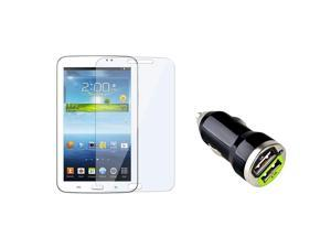 eForCity Reusable Screen Protector with 2-Port USB Car Charger Adapter For Samsung Galaxy Tab 3 7.0 P3200