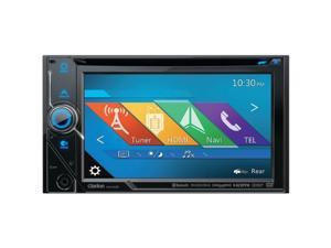 "Clarion NX405 6"" Double-DIN DVD Multimedia Receiver with Built-in Navigation, Bluetooth(R) & Pandora(R) Internet Radio"