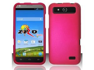 ZTE Speed Case, eForCity Rubberized Hard Snap-in Case Cover For ZTE Speed, Hot Pink