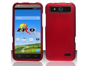 ZTE Speed Case, eForCity Rubberized Hard Snap-in Case Cover For ZTE Speed, Red