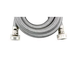 "WMS6 Braided Stainless Steel Washing Machine Connector (6ft&#59; ohm "" ID)"