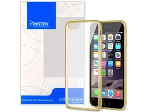 Apple iPhone 6 Plus / 6S Plus Case, eForCity Bumper TPU Rubber Candy Skin Case Cover for Apple iPhone 6 Plus / 6S Plus (5.5-inch), Clear/Gold