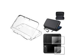 eForCity Clear Hard Case Cover + EVA Hard Pouch + Screen Protector for Nintendo 3DS XL