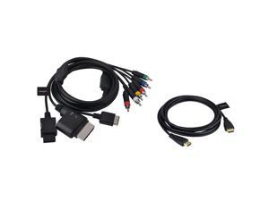 eForCity HDMI 10' Cable + 4-in-1 AV Component HDTV Cord For Nintendo Wii / Sony PS3 PS2