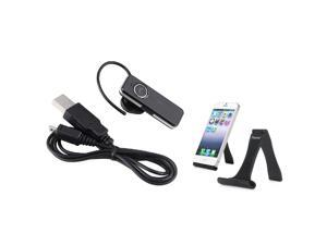 eForCity Mini Wireless Bluetooth Headset+Black Cell Phone Mini Stand Holder For iPhone 5/5S/5C 4 4S 3G 3GS 3