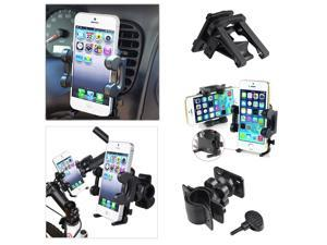 eForCity Car Air Vent Phone Holder with extra Bicycle Mount compatible with Apple iPhone 5